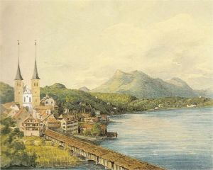 A watercolor painting by Mendelssohn.
