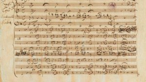 A page from Mendelssohn's famous Octet composed at 16. Image from NPR.