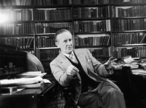J. R. R. Tolkien talking about something important.