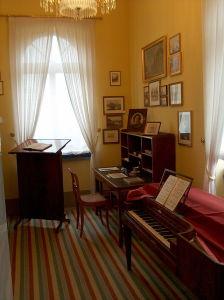 Mendelssohn's study in Leipzig.